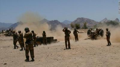 Almotamar Net - The army artillery and popular committees launched a fierce attack on Saudi-paid mercenaries sites in Jawf province, a military official said on Monday.